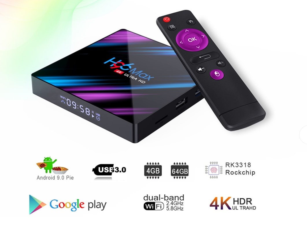 Purple Rain Design Smart Android TV Box