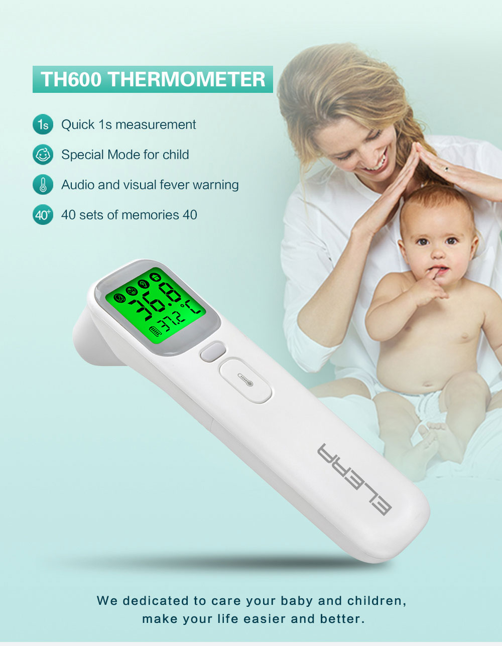 Baby's Digital Infrared Body Measurement Thermometer